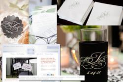 Wedding Monogram, Stickers, Programs