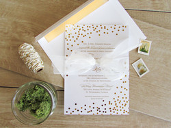Foil Wedding Invitation