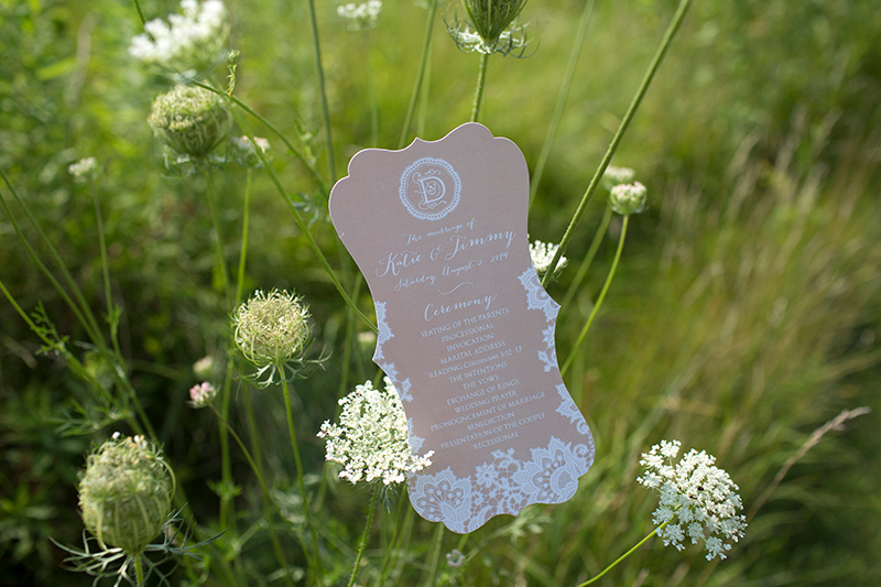 Ornate Die-Cut Wedding Programs