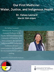 March Seminar Water, Justice, and Indige