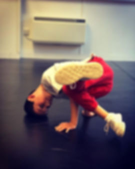 One of our Junior B-Boys mastering his b