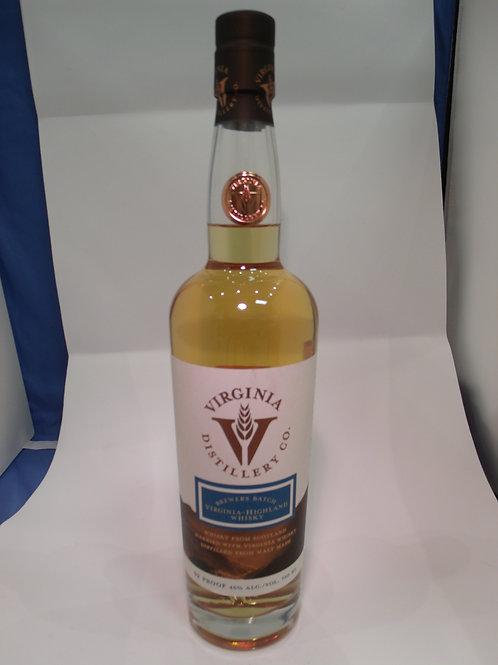 Virginia Highland Distillery Co Brewer's Batch Cask Whiskey 750mL