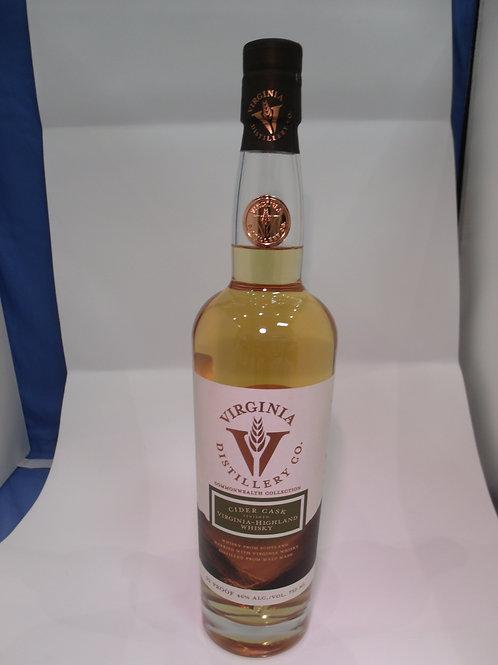 Virginia Highland Distillery Co Cider Cask Whiskey 750 mL