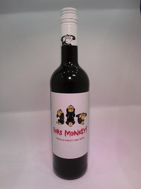 Thr3 Monkeys Red Wine 750 mL