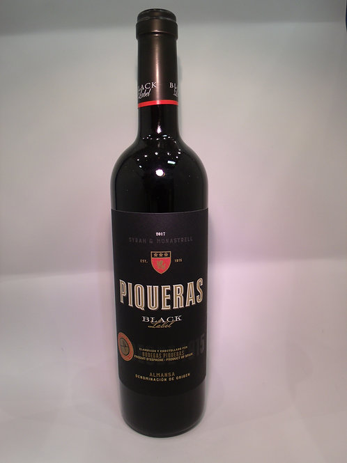 2017 Bodegas Piqueras Black Label Syrah - Monastrell, Almansa, Spain 750 mL