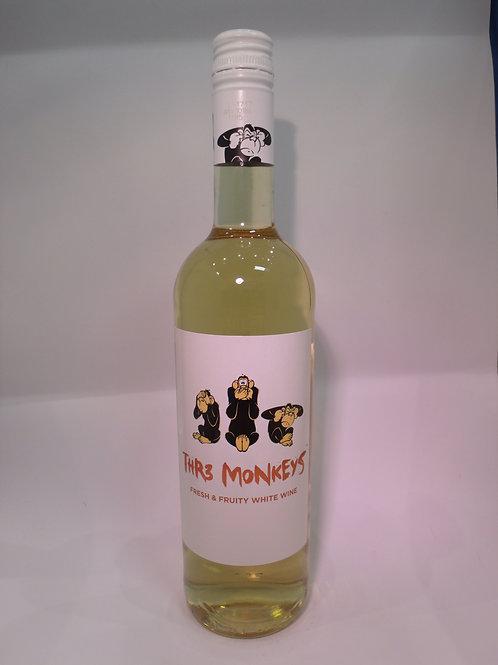 Thr3 Monkeys White Wine 750 mL