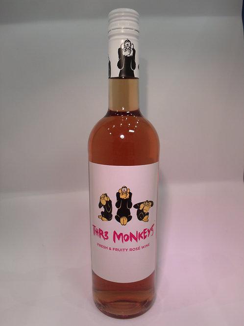 Thr3 Monkeys Rose Wine 750 mL