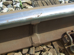 VT on welded rail joint