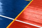 Piso de madeira quadra de basquete