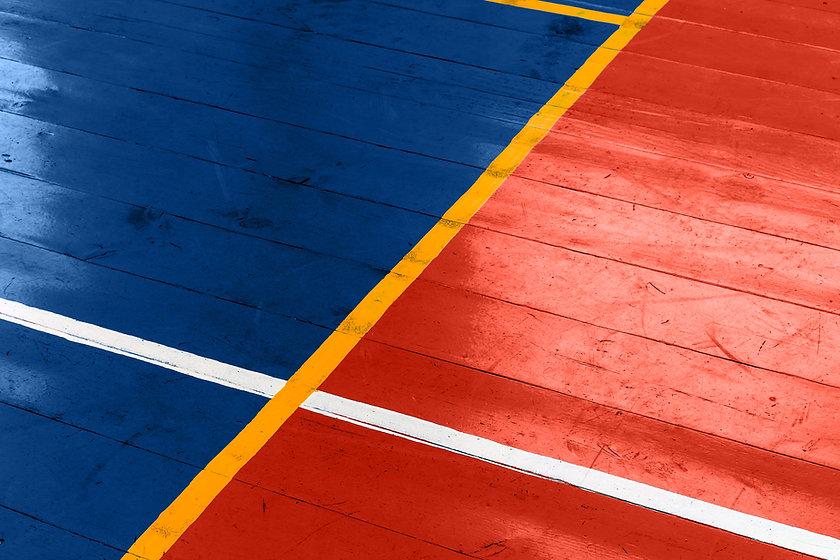 Plancher de terrain de basket en bois