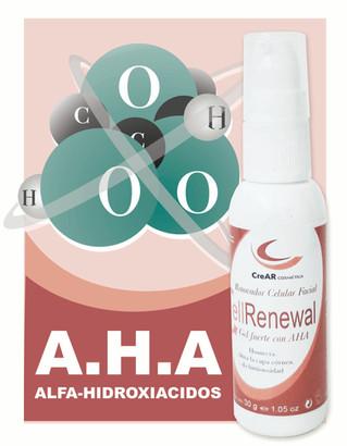 Cell Renewal Gel fuerte con AHA (Glicólico, Cítrico, Láctico) pH 3,5/4,0