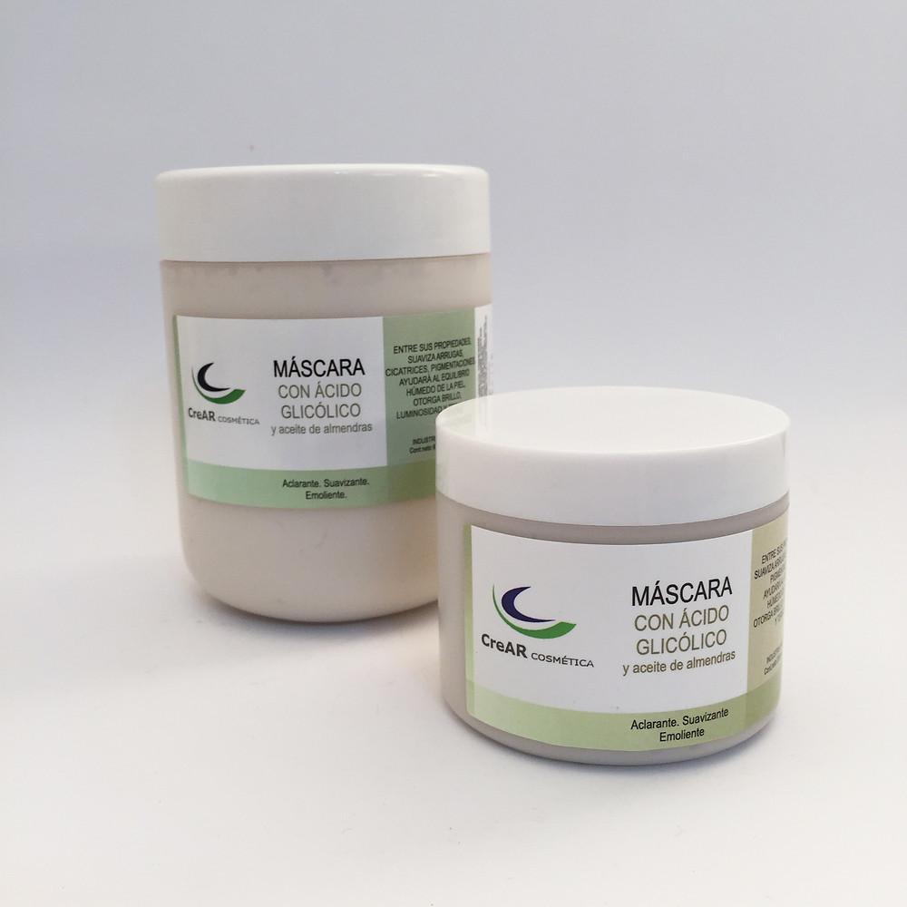 Máscara de ácido Glicólico y aceite de almendras