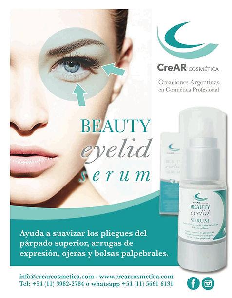 Crear cosmetica Beauty Eyelid serum parpados ojeras arrugas y bolsas palpebrales