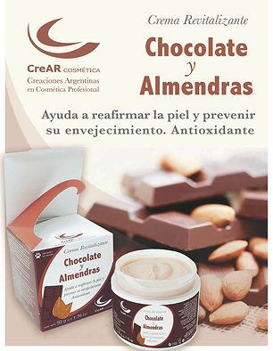 Crema Chocolate y almendras reafirmante de la piel y antioxidante