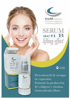 Crer cosmetica serum acti b lifting effect descontractil d arrugas de expresion
