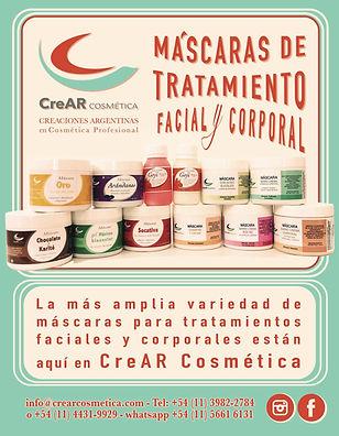 Crear cosmetica mascaras faciales y corporales