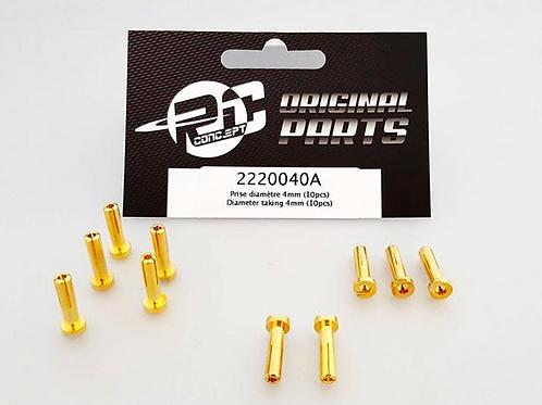 4mm Bullet Connectors (10)