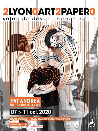 Lyon art paper dessin contemporain scénographie générale et participation artistique 2020