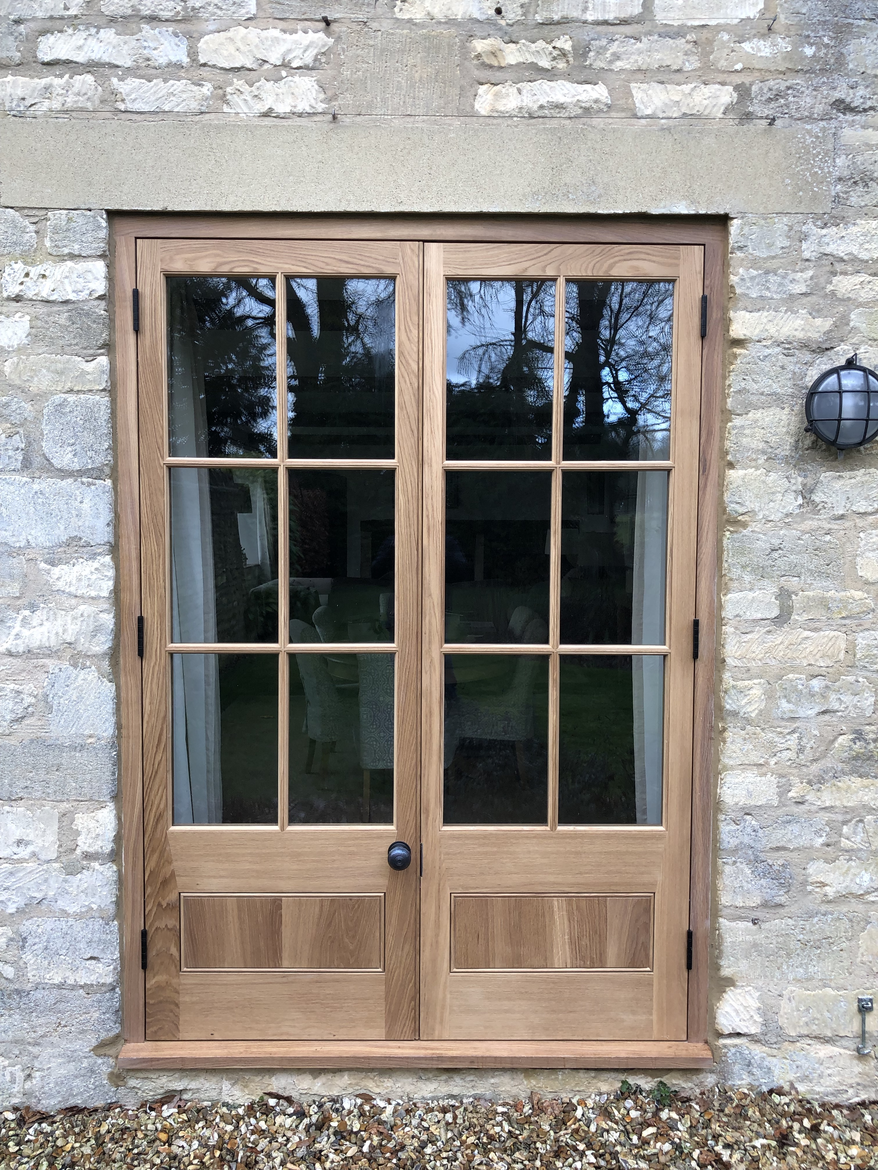 French Doors with Gunstock Joints
