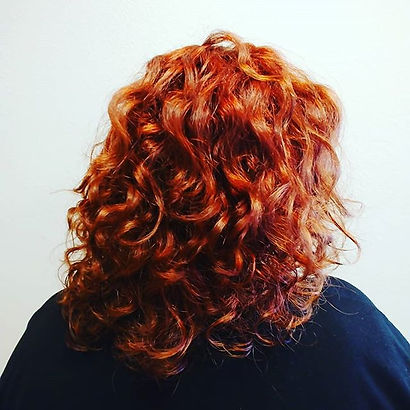 Intense red for this curly girl. #719sty