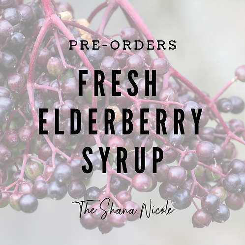 Made to Order Elderberry Syrup