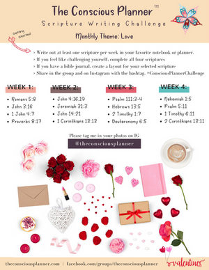 Scripture Writing Plan: Love