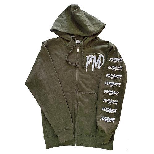 Green Full-Zip Hoodie - XS
