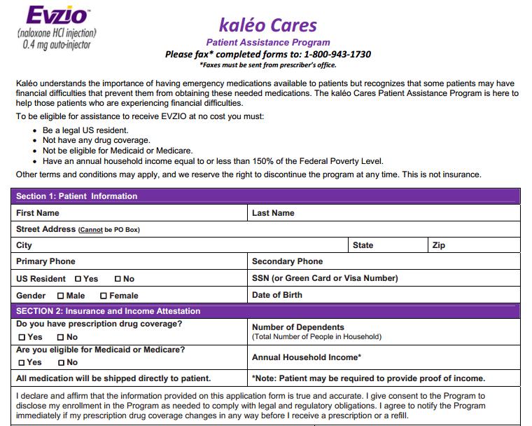 Evzio Patient Assistance Form.PNG