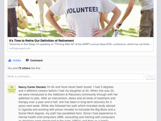 Comment on Arianna Huffington's post on retirement