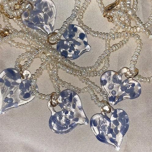 Polka Heart on Pearls