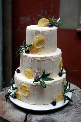 Crema & Limón  Pastel de Boda