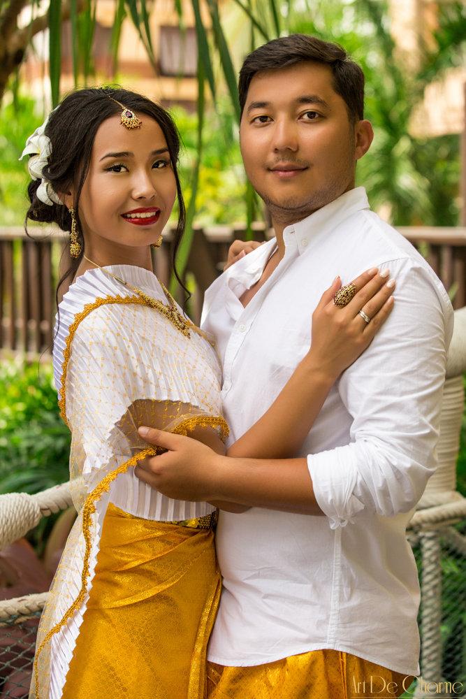 Буддистская свадебная церемония в храме и европейская свадьба на пляже или в отеле Паттайя, Тайланд