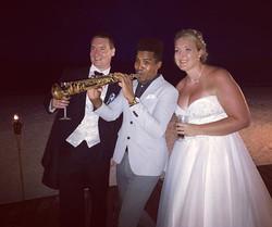 Wedding today so beauty 😌🎶🎶🎷💍 #mexico #cancun #playadelcarmen #usa #destinationweddings #destin
