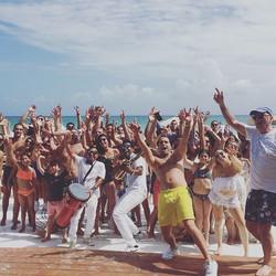 Beach Party Wedding🎷#grandhyattplayadelcarmen #destinations #destinationweddings #boda #sax #usa #c