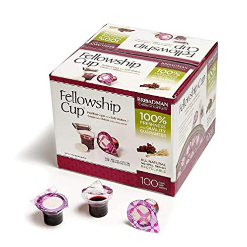 Fellowship Prefilled Communion Cups - 100 count box