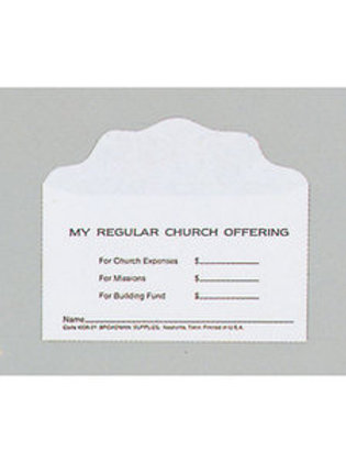 Offering Envelopes - 3 fund - No. 3 size - 100 to a box
