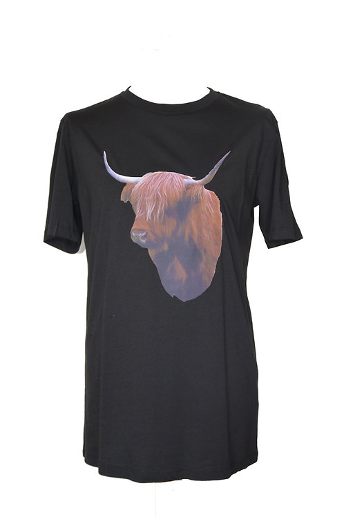 T-Shirt Zwart (Long Fit)