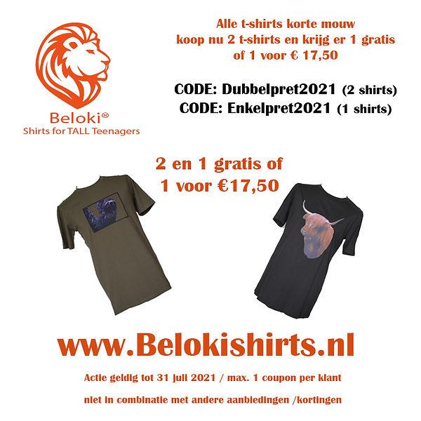 Adv vierkant 2 voor 1 t-shirt dubbelpret