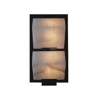 DOUBLE SLOPING BLOCK Wall Lamp on Metal Frame