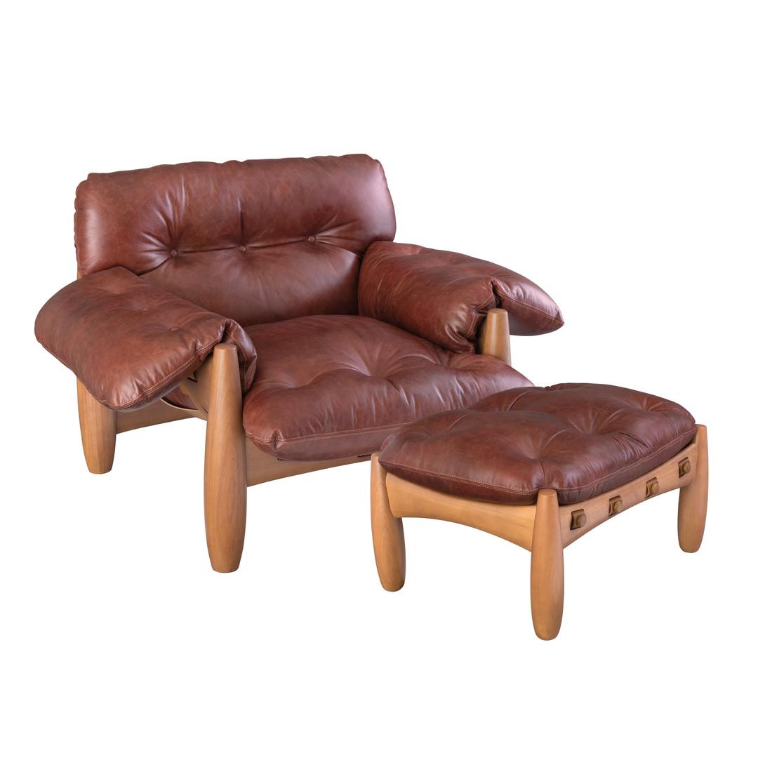 Mole Armchair & Footrest