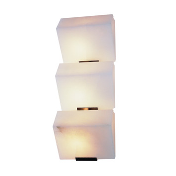 "Triple ""Sloping Block"" Wall Lamp"