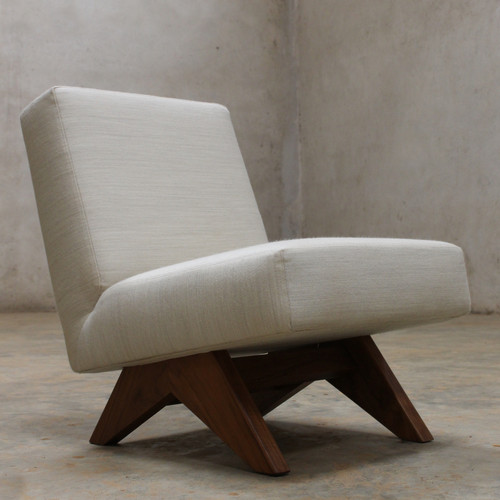 Upholstered Easy Armless Chair