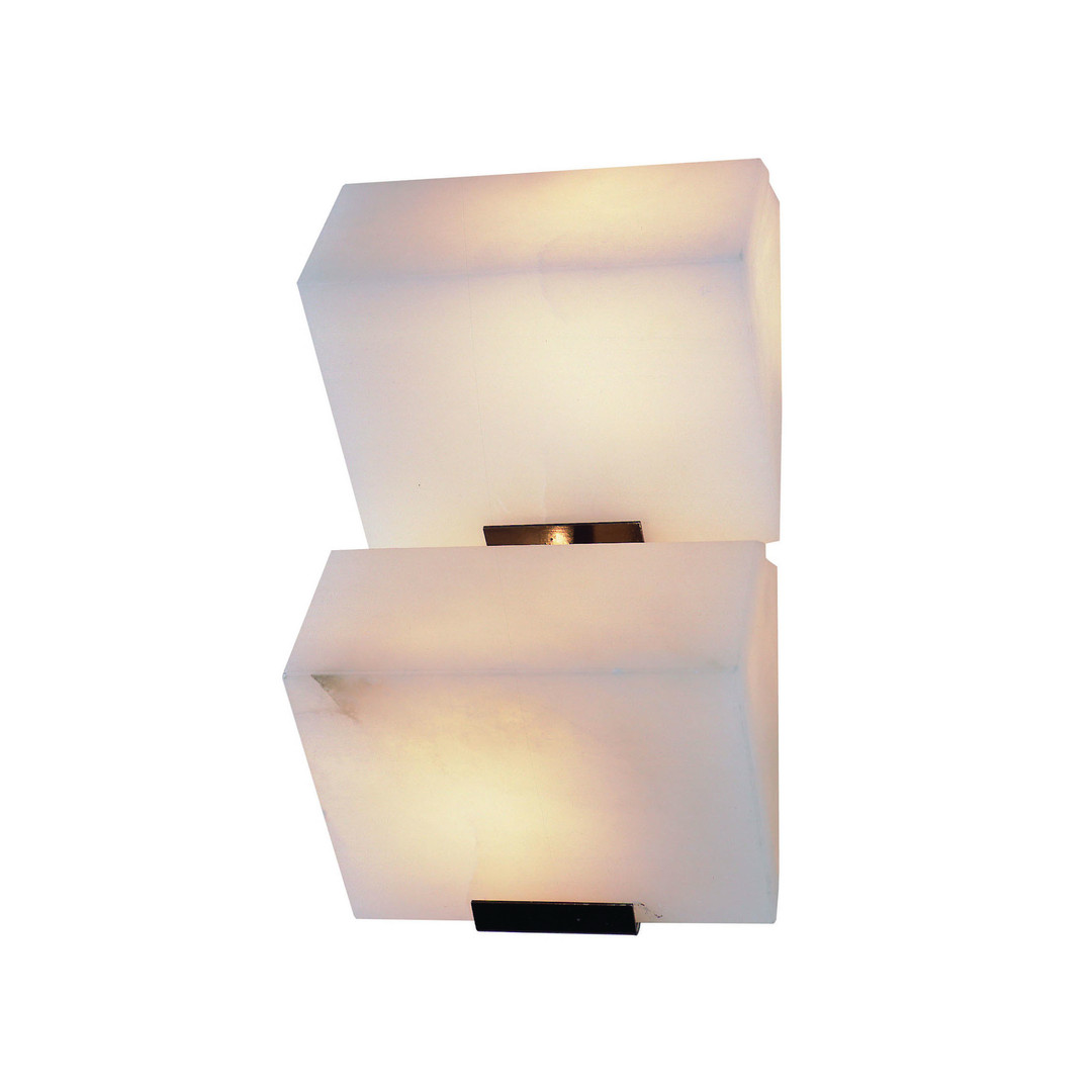 """Double """"Sloping Block"""" Wall Lamp"""