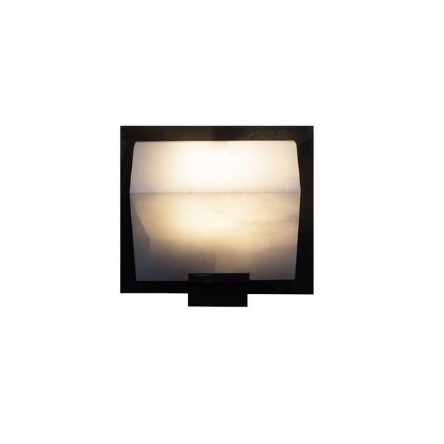 SINGLE SLOPING BLOCK Wall Lamp on Metal Frame
