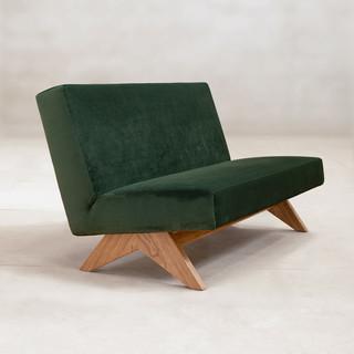 Upholstered Armless Sofa
