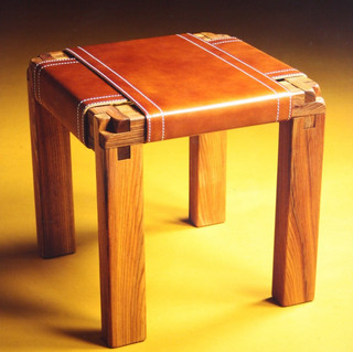 Stretched Leather Stool S12
