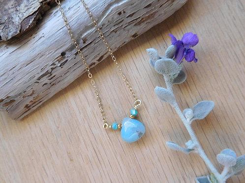 wholesale Aquamarine teardrop necklace