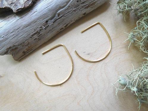 WS Gold U Shape Threader earrings