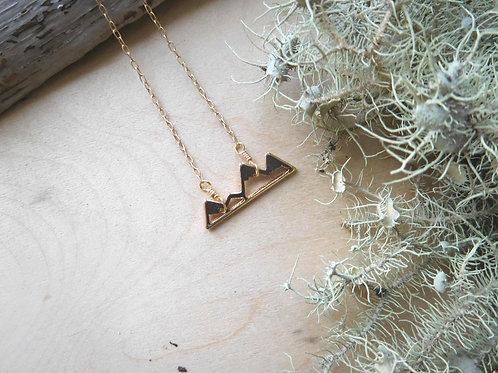 WS Gold Mountain Necklace