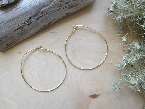 WS Large Gold Hoop Earrings